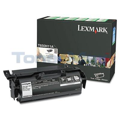 LEXMARK T650N TONER CARTRIDGE RP 25K